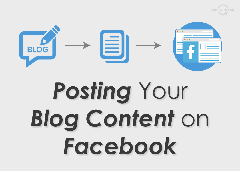 Posting Your Blog Content on Facebook